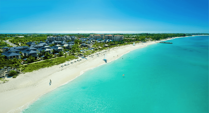 A Typical Turks And Caicos Beach, Hotel, And Resort Area.