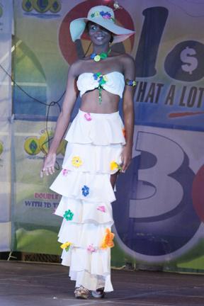 Best Cultural Wear: Miss St. Vincent Nikianna Williams. (Iwn Photo)