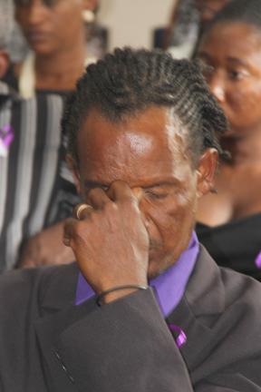 A Pensive Lennox &Quot;Bongo&Quot; Hoyte At The Funeral Of His Stepson, Nick, On Sunday. (Photo: Karamo John)
