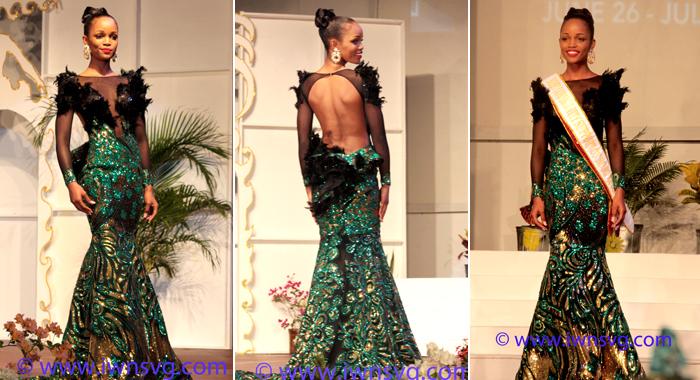 "De Yonté'S Kimon Baptiste-Designed Evening Gown, ""Phantom Of The Opera"". (Photos: Zavique Morris-Chance/Iwn)"