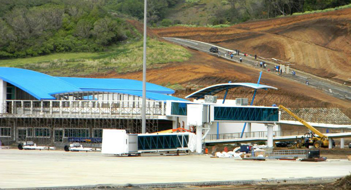 Another View Of The Airport Showing The Air Bridges Being Installed And An Access Road Under Construction. (Photo: Friends Of Argyle Int'L/Facebook)