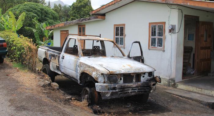 Hugh Stewart'S Vehicle Was Set On Fire Last Week Saturday. (Iwn Photo)