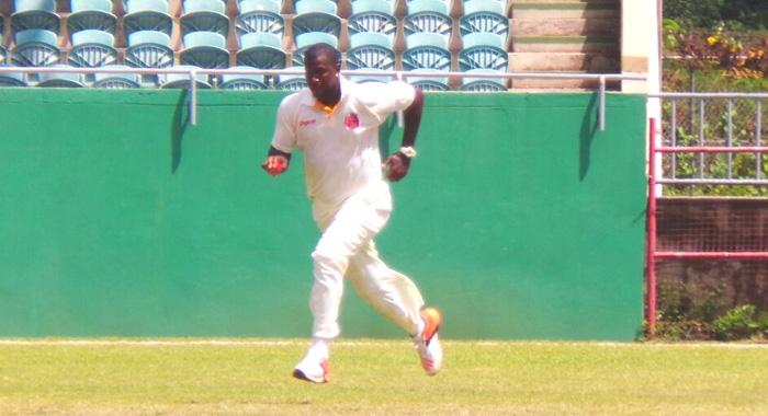 Mervyn Mathew Took 5/19 To Rout St. Lucia. (Photo: E. Glenford Prescott)