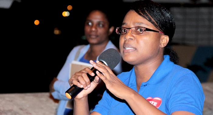 Anesia Baptiste, Head Of The Democratic Republican Party. (Iwn Photo)