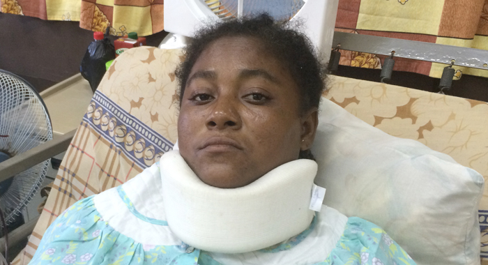 Sandy Bay Resident Shirley Baptiste'S Right Leg Was Amputated As A Result Of Her Injuries. (Iwn Photo)