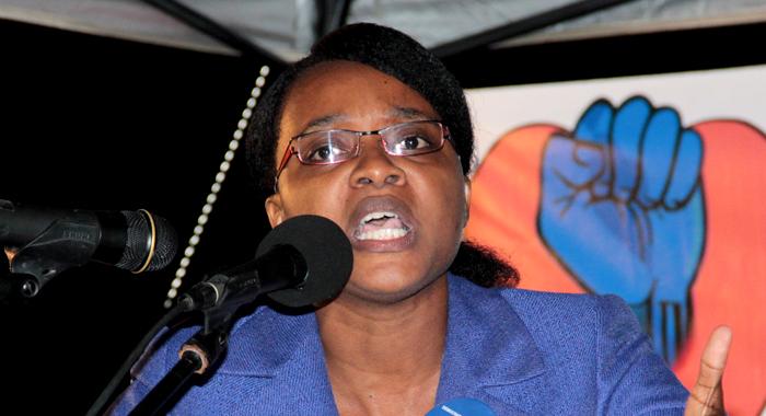 Head Of The Democratic Republican Party, Anesia Baptiste. (Iwn File Photo)