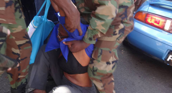Some Persons Have Expressed Concern About The Way The Activist Was Treated During The Arrest. (Photo: Carib Update/Facebook)