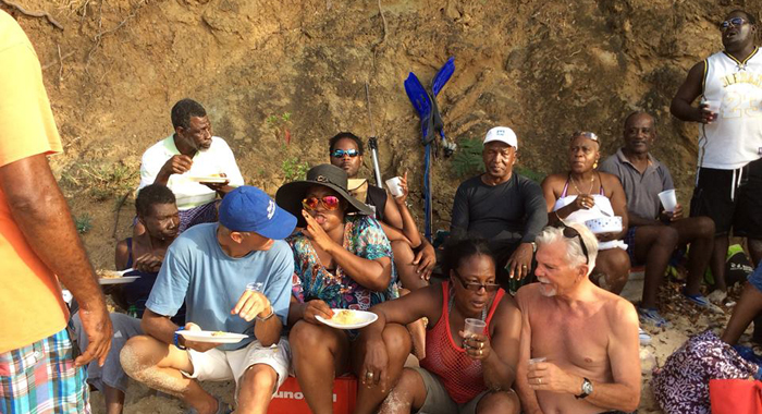Bynoe Said That Washington, Right, Who Attended A Picnic With Islanders Earlier This Year, Denied Him Boarding On The Bus. (Photo: Facebook)