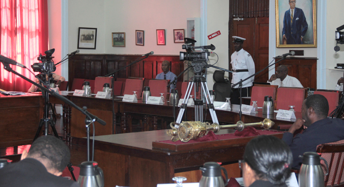 Empty Opposition Benches At Friday'S Meeting Of Parliament. (Iwn Photo)
