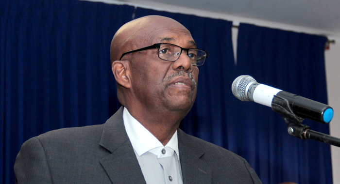 Leader Of The Opposition And Ndp President Arnhim Eustace Speaks At The Party'S &Quot;People'S Budget&Quot; In Kingstown On Monday. (Iwn Photo)