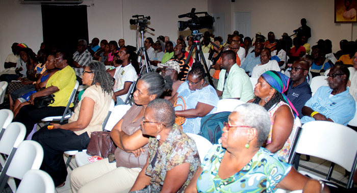 A Section Of The Audience At The Ndp'S &Quot;People'S Budget&Quot; On Monday.