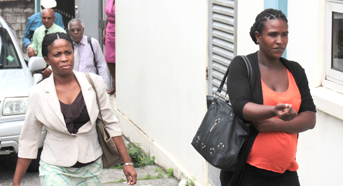 Parents Nelcia Stay And Jemma Edwards Leave The Serious Offences Court After Testifying On Wednesday. (Iwn Photo)