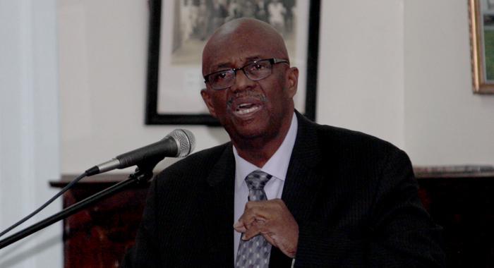 Leader Of The Opposition Arnhim Eustace Speaking In Parliament On Thursday. (Iwn Photo)