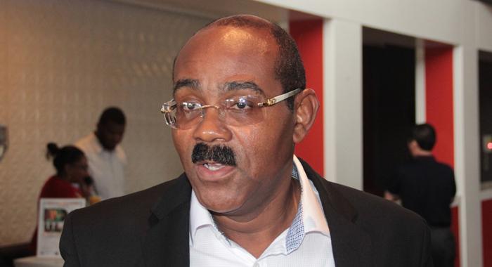 Prime Minister Of Antigua And Barbuda, Gaston Browne. (Cmc Photo)