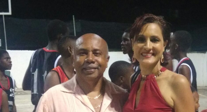 Minister Of Sports, Cecil &Quot;Ces&Quot; Mckie, Left, And President Of The Bequia Association, Sabrina Mitchell.