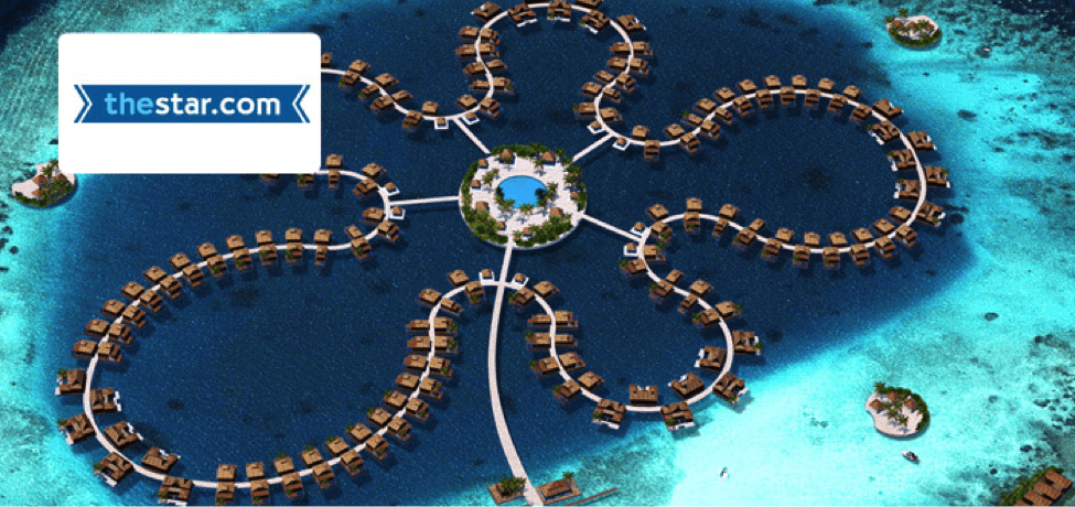 A Maldives Island Resort.