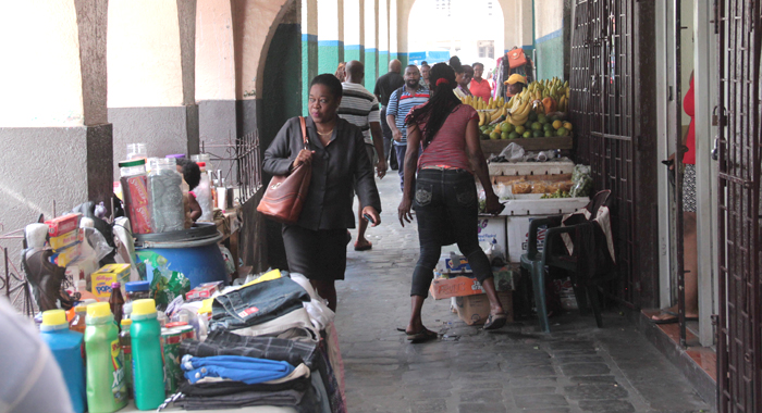 The Senior Cop Says Police Officers Will Respond To Complaints About Hindrances To Pedestrian Traffic, Including Vending. (Iwn Photo)