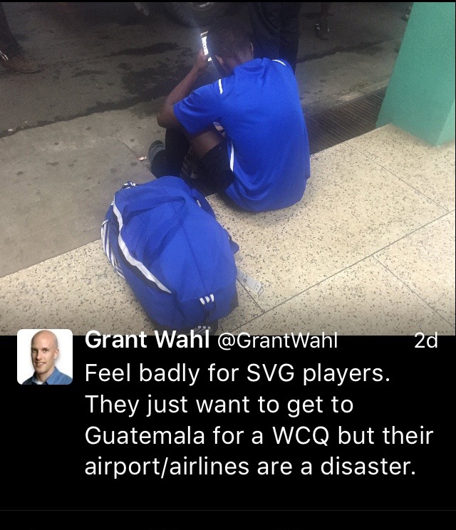 American Write Grant Wahl Sent Out This Tweet To His 774,000 Followers After A Liat Flight Was Cancelled Some 25 Minutes After It Departed.