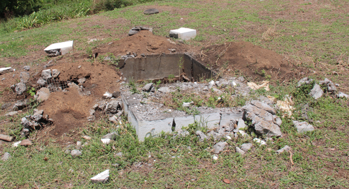 About Half The Length Of This Grave Was Dug Down To A Depth Of About Three Feet. (Iwn Photo)