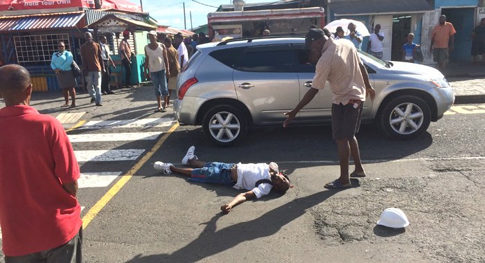 Pedestrians React After The Man Was Knocked Unconscious. (Iwn Photo)