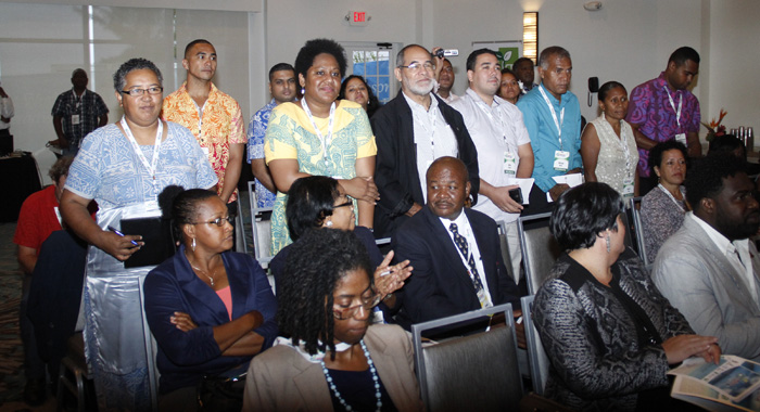 Delegates From The Pacific Islands Are Acknowledged During The Opening Ceremony Of Caribbean Week Of Agriculture In Grand Cayman On Wednesday, Oct. 26.