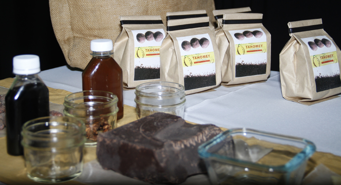 Some Of Tahomey'S Products. (Photo: Kenton X. Chance)