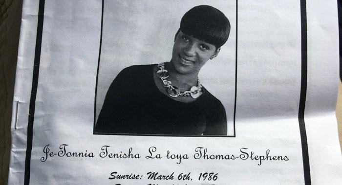 Je Tonnia Thomas Funeral Programme