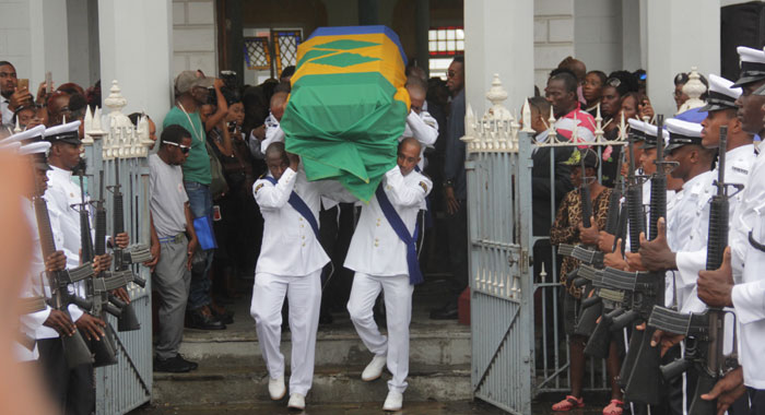 Img 0921 Sir Frederick Casket Leaves Chruch