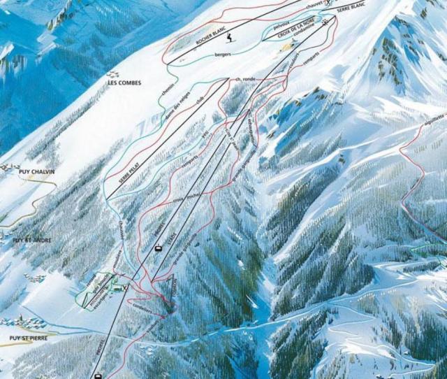 Briancon Piste Map
