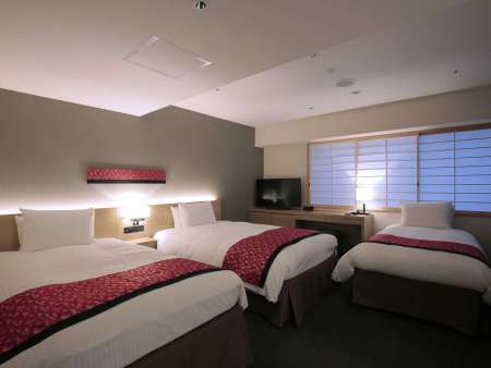 【ホテルインターゲート京都 四条新町】ユニバーサルルーム(ツイン・35平米・3名可)