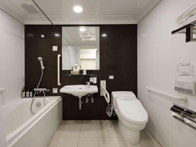 【ホテル エムズ・エスト四条烏丸】ユニバーサルツインルーム(28平米)バスルーム