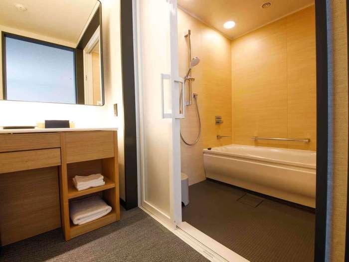 高山グリーンホテルのユニバーサルツイン バスルーム