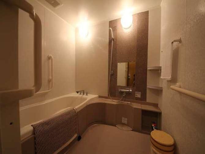 【奥の院ほてるとく川】モダン和洋室 「月代 ふじ」【バリアフリー対応】 (40平米)バスルーム