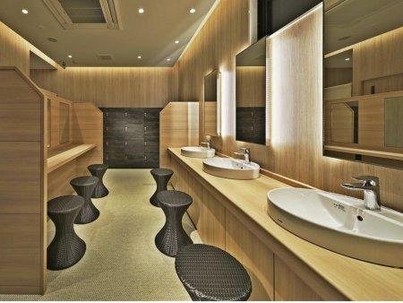 【ロイヤルツインホテル京都八条口】大浴場の脱衣所