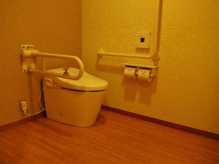 【森秋旅館】温泉付きバリアフリー客室【峰月】の車いす対応トイレ