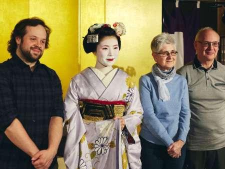 【京都グランベルホテル】舞子ショーで舞子さんと記念撮影