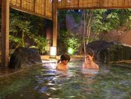 大江戸温泉物語 伊東温泉 伊東ホテルニュー岡部:野趣あふれる庭園風呂