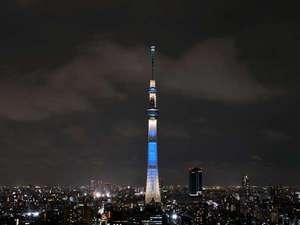 東武ホテルレバント東京:東京スカイツリ-ライティング「粋」