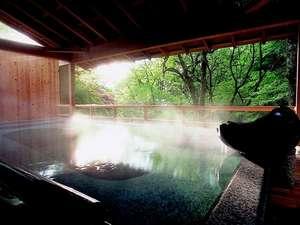 湯あそびの宿 下呂観光ホテル本館:朝のみ解放される渓流沿いの野天風呂。澄み切った空気の中での早朝湯浴みはオススメ