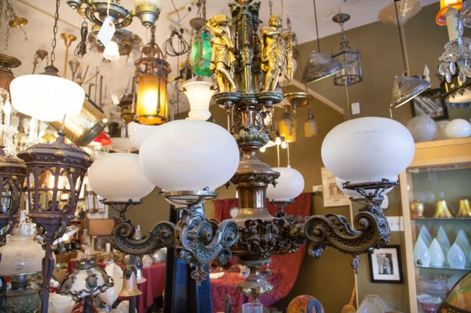 Eclectic Revival Fully Red And Functional Gas Chandelier