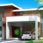 Contemporary Home Designs Floor Plan Elevation Modern House House Plans 30217