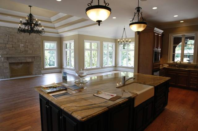 Hearth Room Traditional Kitchen Louis Schaub House Plans