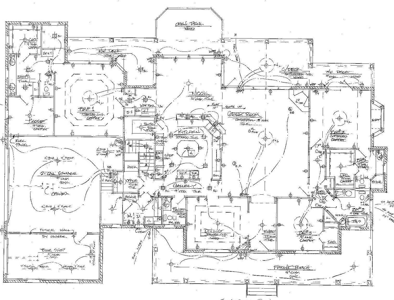 Floor Plan Wiring Diagram