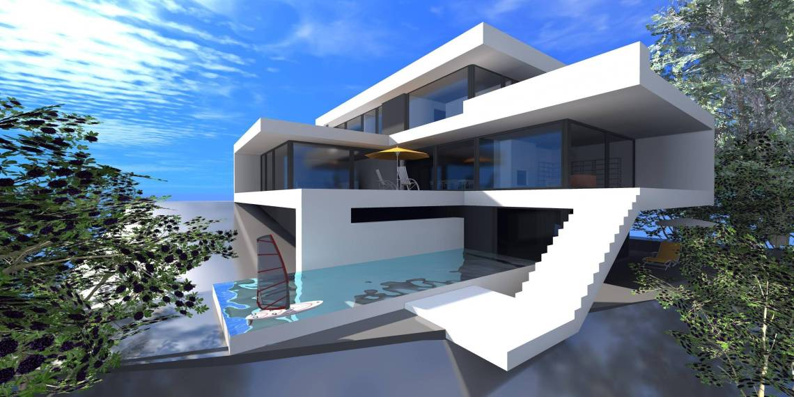 Minecraft Modern House Landscaping Tutorial Youtube ...