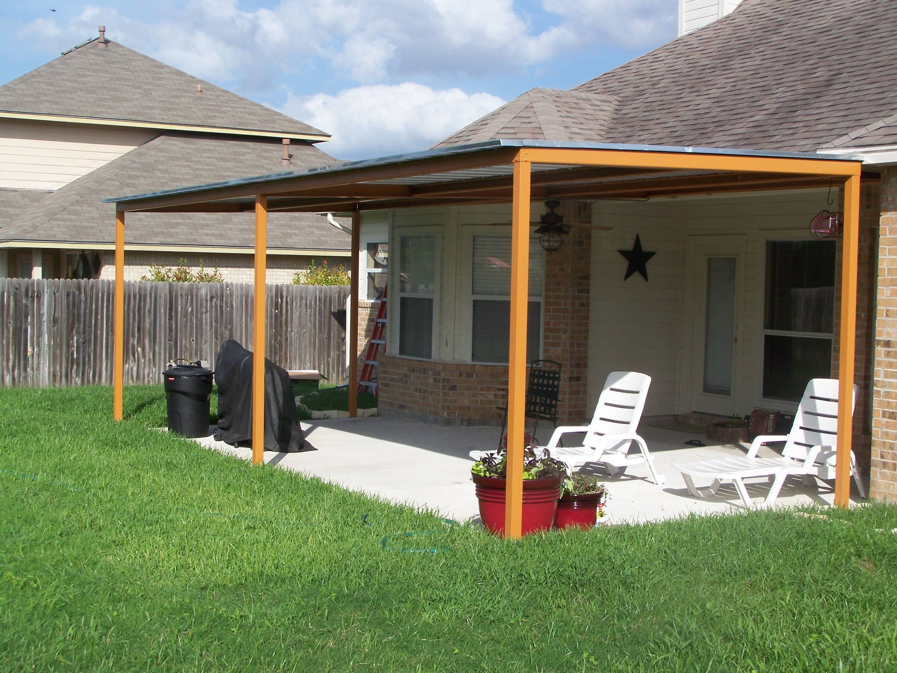 patio metal roof ideas house plans
