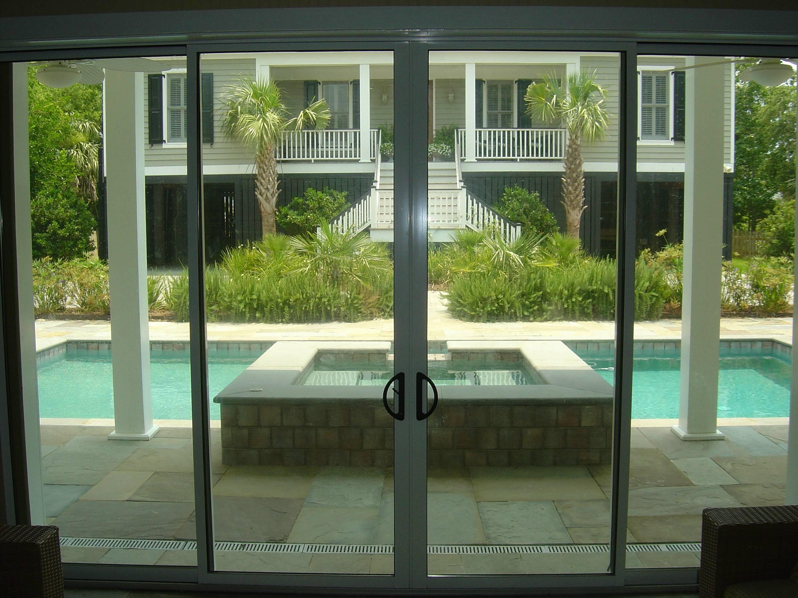 pocket sliding glass doors solar