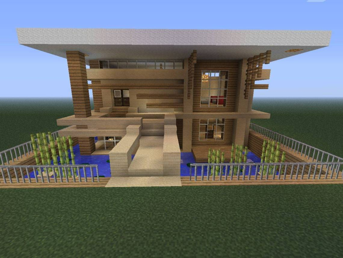 Small Modern Home Minecraft Project - House Plans | #18246