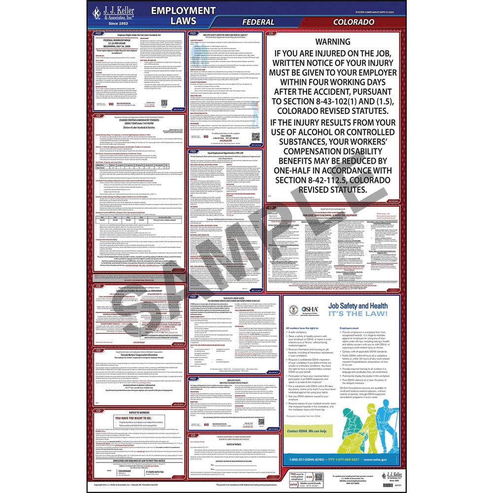 2021 colorado federal labor law posters