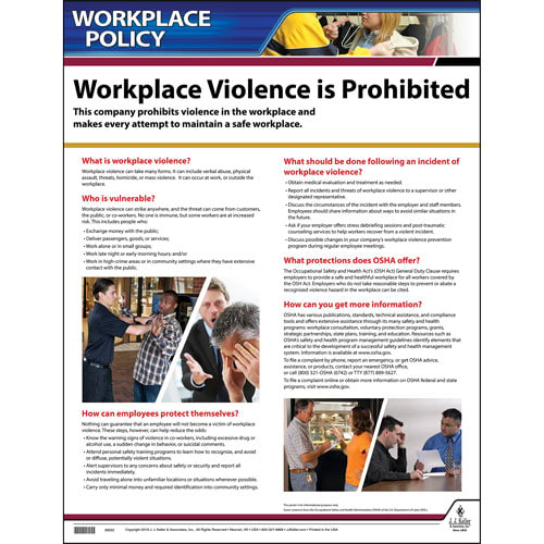 workplace violence policy poster