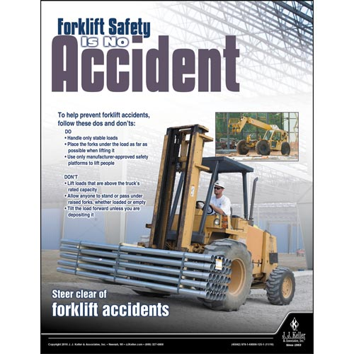 forklift safety is no accident construction safety poster
